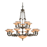 Crystorama Natural Alabaster 20 Light Chandelier in Bronze 879-BZ
