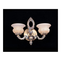 Crystorama 882-BP Signature 2 Light 16 inch Bronze Patina Wall Sconce Wall Light