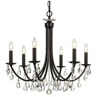 Crystorama 8826-VZ-CL-MWP Bridgehampton 6 Light 26 inch Vibrant Bronze Chandelier Ceiling Light in Vibrant Bronze (VZ)