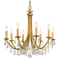 Crystorama 8828-GA-CL-MWP Bridgehampton 8 Light 28 inch Antique Gold Chandelier Ceiling Light in Aged Brass (AG)