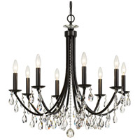 Crystorama 8828-VZ-CL-MWP Bridgehampton 8 Light 28 inch Vibrant Bronze Chandelier Ceiling Light in Vibrant Bronze (VZ)
