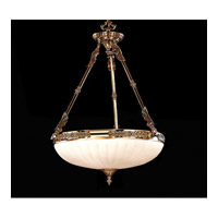 Crystorama Natural Alabaster 4 Light Pendant in Olde Brass 884-OB