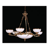 Crystorama Signature 9 Light Chandelier in Olde Brass 885-OB
