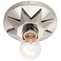 Crystorama 8850-PN Carson 1 Light 5 inch Polished Nickel Flush Mount Ceiling Light