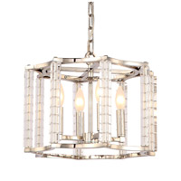 Crystorama 8854-PN Carson 4 Light 16 inch Polished Nickel Chandelier Ceiling Light