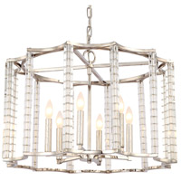 Crystorama 8856-PN Carson 6 Light 28 inch Polished Nickel Chandelier Ceiling Light