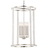 Crystorama 8859-PN Carson 6 Light 18 inch Polished Nickel Chandelier Ceiling Light