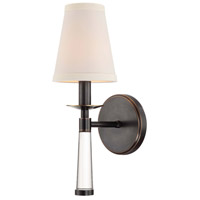 Crystorama 8861-OR Baxter 1 Light 5 inch Oil Rubbed Bronze Wall Sconce Wall Light in Oil Rubbed Bronze (OR)