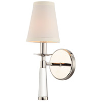 Crystorama 8861-PN Baxter 1 Light 5 inch Polished Nickel Wall Mount Wall Light in Polished Nickel (PN)