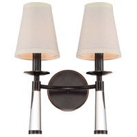 Baxter 2 Light 12 inch Oil Rubbed Bronze Wall Sconce Wall Light in Oil Rubbed Bronze (OR)