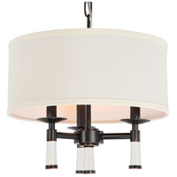 Crystorama Baxter 3 Light Chandelier in Oil Rubbed Bronze 8863-OR