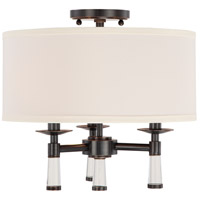 Crystorama 8863-OR_CEILING Baxter 3 Light 16 inch Oil Rubbed Bronze Semi Flush Mount Ceiling Light in Oil Rubbed Bronze (OR)