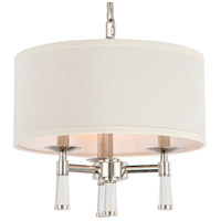 Crystorama 8863-PN Baxter 3 Light 16 inch Polished Nickel Mini Chandelier Ceiling Light in Polished Nickel (PN)