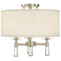 Crystorama 8863-PN_CEILING Baxter 3 Light 16 inch Polished Nickel Semi Flush Mount Ceiling Light in Polished Nickel (PN)