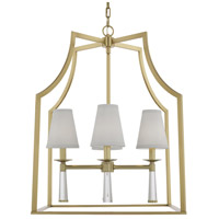 Crystorama 8864-AG Baxter 4 Light 22 inch Aged Brass Chandelier Ceiling Light