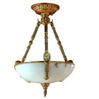 Signature 3 Light 22 inch French Gold Pendant Ceiling Light