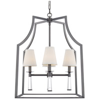 Crystorama 8864-OR Baxter 4 Light 22 inch Oil Rubbed Bronze Chandelier Ceiling Light in Oil Rubbed Bronze (OR)
