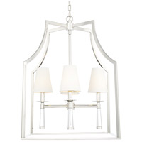 Crystorama 8864-PN Baxter 4 Light 22 inch Polished Nickel Chandelier Ceiling Light in Polished Nickel (PN)