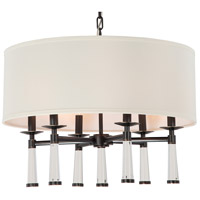 Crystorama 8866-OR Baxter 6 Light 24 inch Oil Rubbed Bronze Chandelier Ceiling Light in Oil Rubbed Bronze (OR)