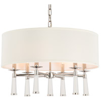 Crystorama 8866-PN Baxter 6 Light 24 inch Polished Nickel Chandelier Ceiling Light in Polished Nickel (PN)
