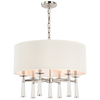 Crystorama 8866-PN Baxter 6 Light 24 inch Polished Nickel Chandelier Ceiling Light in Polished Nickel (PN) alternative photo thumbnail