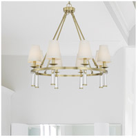 Crystorama 8867-AG Baxter 8 Light 32 inch Aged Brass Chandelier Ceiling Light in Aged Brass (AG) alternative photo thumbnail