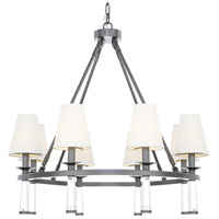 Crystorama 8867-OR Baxter 8 Light 32 inch Oil Rubbed Bronze Chandelier Ceiling Light in Oil Rubbed Bronze (OR)