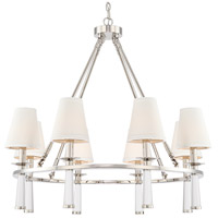 Crystorama 8867-PN Baxter 8 Light 32 inch Polished Nickel Chandelier Ceiling Light in Polished Nickel (PN)