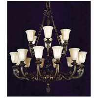 Crystorama Signature 6 Light Chandelier in Bronze 888-36-BZ