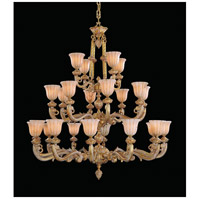 Crystorama Natural Alabaster 24 Light Chandelier in French White 888-48-WH