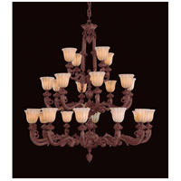 Crystorama Natural Alabaster Chandelier in Bronze 888-60-BZ
