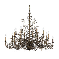 Crystorama Victoria Chandelier in English Bronze 888-P18-EB