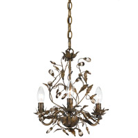 Crystorama Lighting Hot Deal Mini Chandelier in English Bronze 888-P3S-EB photo thumbnail