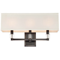 Crystorama Dixon 3 Light Wall Sconce in Oil Rubbed Bronze 8883-OR