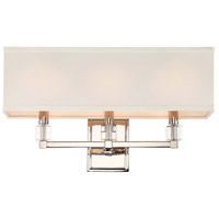 Crystorama 8883-PN Dixon 3 Light 25 inch Polished Nickel Bathroom Vanity Wall Light in Polished Nickel (PN)