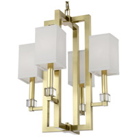 Crystorama 8884-AG Dixon 4 Light 19 inch Aged Brass Chandelier Ceiling Light