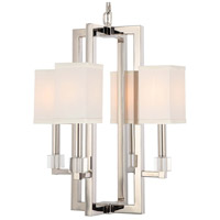 Crystorama 8884-PN Dixon 4 Light 19 inch Polished Nickel Chandelier Ceiling Light