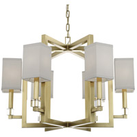 Crystorama 8886-AG Dixon 6 Light 29 inch Aged Brass Chandelier Ceiling Light