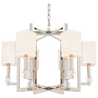 Crystorama 8886-PN Dixon 6 Light 29 inch Polished Nickel Chandelier Ceiling Light