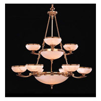 Crystorama European Classic 9 Light Chandelier in Olde Brass 890-39-OB