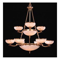 Crystorama European Classic 12 Light Chandelier in Olde Brass 890-48-OB