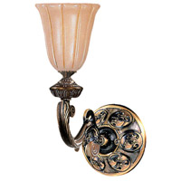 Crystorama Natural Alabaster 1 Light Wall Sconce in Bronze 891-BZ