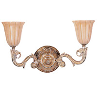Crystorama Natural Alabaster 2 Light Wall Sconce in French White 892-WH