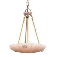 Natural Alabaster 5 Light 19 inch French White Pendant Ceiling Light in French White (WH)