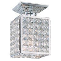 Crystorama Chelsea 1 Light Semi-Flush Mount in Polished Chrome with Hand Cut Crystals 900-CH-CL-MWP