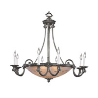 Crystorama 9008-PW Signature 9 Light 34 inch Pewter Chandelier Ceiling Light