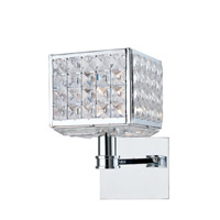 Crystorama Chelsea 1 Light Wall Sconce in Polished Chrome with Hand Cut Crystals 901-CH-CL-MWP