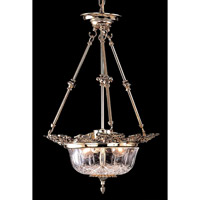 Crystorama Signature 3 Light Pendant in Olde Brass 901-OB