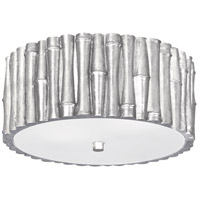 Crystorama Masefield 2 Light Semi Flush Mount in Antique Silver 9010-SA