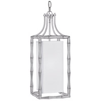 Crystorama Libby Langdon Masefield 1 Light Pendant in Antique Silver 9011-SA